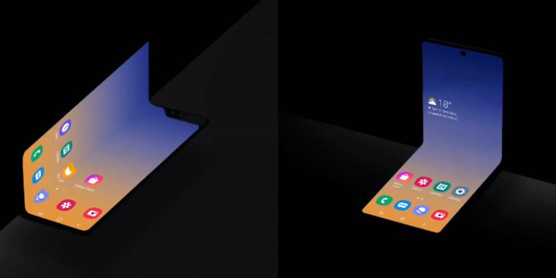 Новость. Samsung не перестаёт удивлять: компания анонсировала смартфон, который можно дважды сложить пополам